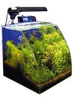 Piccolo acquario della WAVE, modello VISION, di circa 30 litri complessivi e completo di filtro e luce