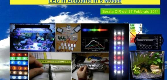 LED in Acquario in 5 Mosse (serata CIR)