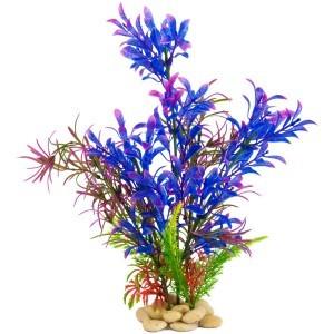 pianta finta per acquario... dai colori innaturali